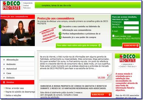 protecção aos consumidores