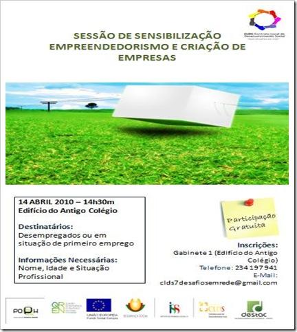 Cartaz Sessão de Divulgação CLDS 14 Abr 2010