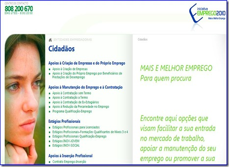 Portal Iniciativa emprego 2010