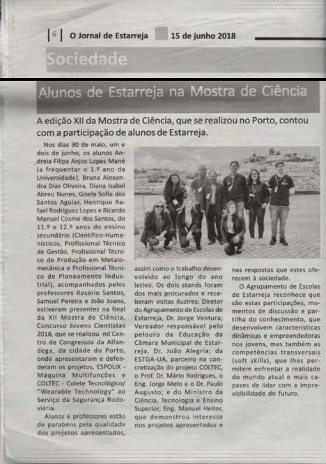 Notícia - Jornal de Estarreja